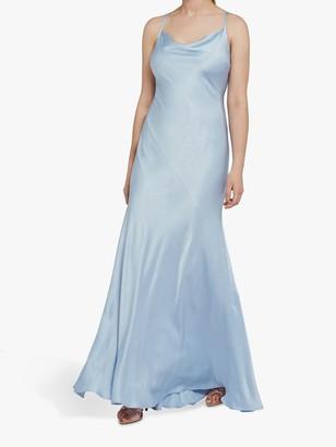Ghost Jules Satin Cross Back Maxi Dress