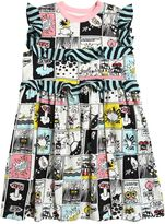 Fendi Comic Printed Cotton Jersey Dress