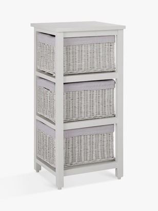 John Lewis & Partners Rattan 3 Drawer Unit
