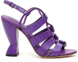Salvatore Ferragamo Scuptural Heel Sandals