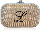 Judith Leiber Couture Monogram Crystal Slide-Lock Clutch Bag, Champagne