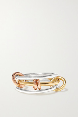 Spinelli Kilcollin Acacia Mx Sterling Silver And 18-karat Yellow And Rose Gold Ring - 3