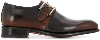 Santoni two-tone monk shoes
