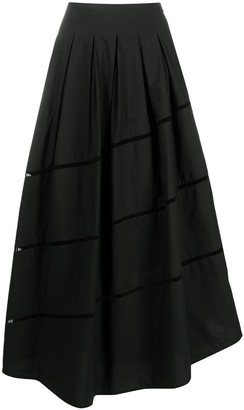 Brunello Cucinelli Cut-Out Cotton Asymmetric Skirt