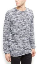 New Look Blue Space Dye Long Sleeve Jumper