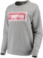 Unbranded Women's ZooZatz Gray Wisconsin Badgers Inverse Reversible Sequins Pullover Sweatshirt