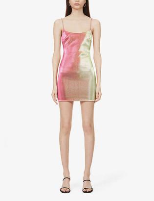 Bec & Bridge Magenta Magic lame mini dress