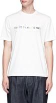 Sunnei Slogan embroidered T-shirt