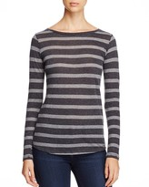 Majestic Filatures Cotton-Cashmere Stripe Tee
