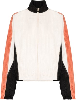 Marine Serre Moire Contrast-Detail Track Jacket