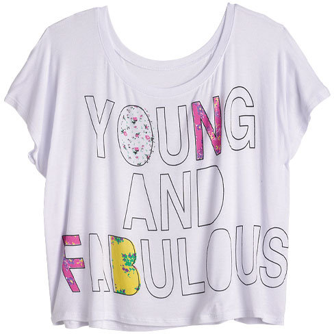 Delia's Workshop Young And Fabulous Tee