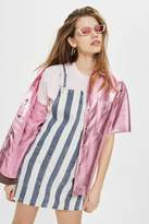 Topshop MOTO Striped Pinafore Dress