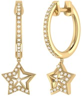 Lucky Star Lmj Hoop Earrings In 14 Kt Yellow Gold Vermeil On Sterling Silver