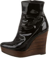 Barbara Bui Patent Leather Wedge Booties