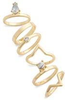 Topshop Women's Pack Of 6 Rings