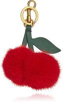 Anya Hindmarch Women's Cherry Tasseled Mink Fur & Leather Key Ring