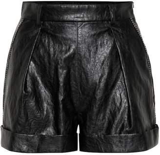 Philosophy di Lorenzo Serafini High-rise faux leather shorts