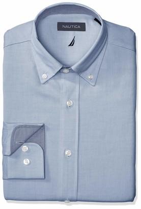 Nautica Men's Classic Fit Button Down Collar Oxford Dress Shirt