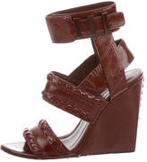 Alexander Wang Patent Leather Wedge Sandals