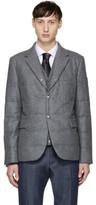 Moncler Gamme Bleu Grey Down Logo Blazer