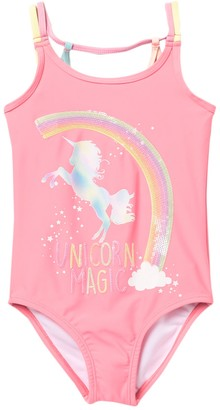 Jessica Simpson Unicorn Magic One-Piece Swimsuit (Little Girls)