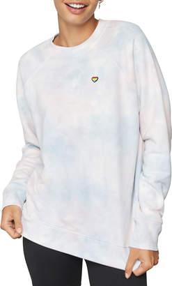 Spiritual Gangster Happiness Tie Dyed Classic Crewneck Sweatshirt
