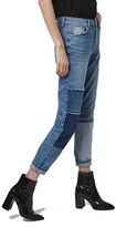 Topshop Women's Mom Patchwork High Rise Jeans