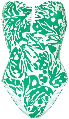Eres Abstract-Print Strapless One Piece
