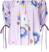 G.V.G.V. printed off shoulder blouse