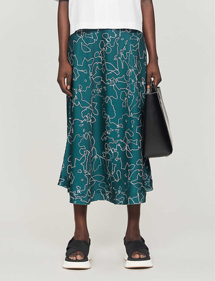 Maggie Marilyn Feeing Fruity printed recycled polyester midi skirt