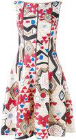 Talbot Runhof geometric print dress - women - Silk/Acetate/Cupro - 34