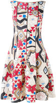 Talbot Runhof geometric print dress