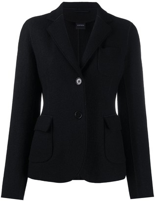 Aspesi Single-Breasted Wool Blazer