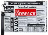 Versace logo newspaper clutch