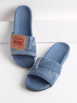 Shein Patch Detail Denim Flat Slippers