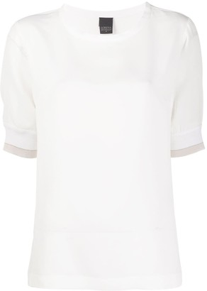 Lorena Antoniazzi ribbed cuffs T-shirt
