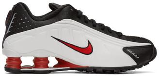 Nike Black and White Shox R4 Sneakers