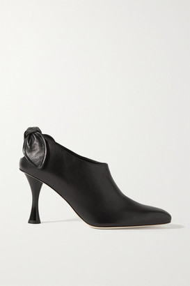 Proenza Schouler Knotted Leather Pumps - Black