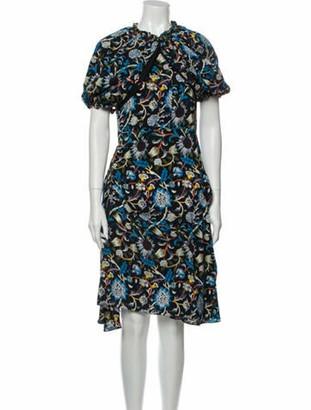 J.W.Anderson Silk Midi Length Dress Blue Silk Midi Length Dress