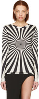 Gareth Pugh Black and Beige Printed Long Sleeve T-shirt