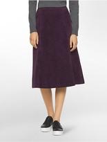 Calvin Klein Suede A-Line Suit Skirt