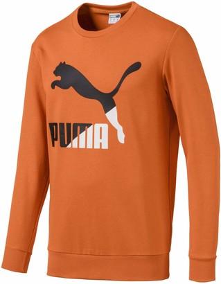 Puma Men's Classics Logo Crewneck Sweatshirt FT White L