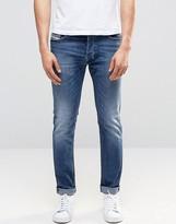 Diesel Tepphar Skinny Jeans 858K Mid Wash