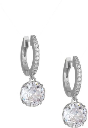 Kate Spade That Sparkle Pave Huggie Hoop Earrings