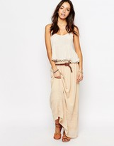 Esprit Embroidered Maxi Skirt
