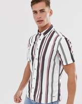 Esprit slim fit shirt short sleeve shirt with multi stripe