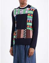 Comme Des Garcons Shirt Patchwork Wool-blend Jumper