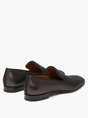 Christian Louboutin Dandelion Metallic Loafers - Black