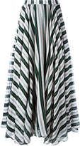MSGM striped A-line maxi skirt