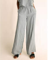 Express mid rise striped pleated wide leg dress pant